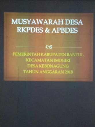 Musyawarah RKPBDes dan APBDes 2018